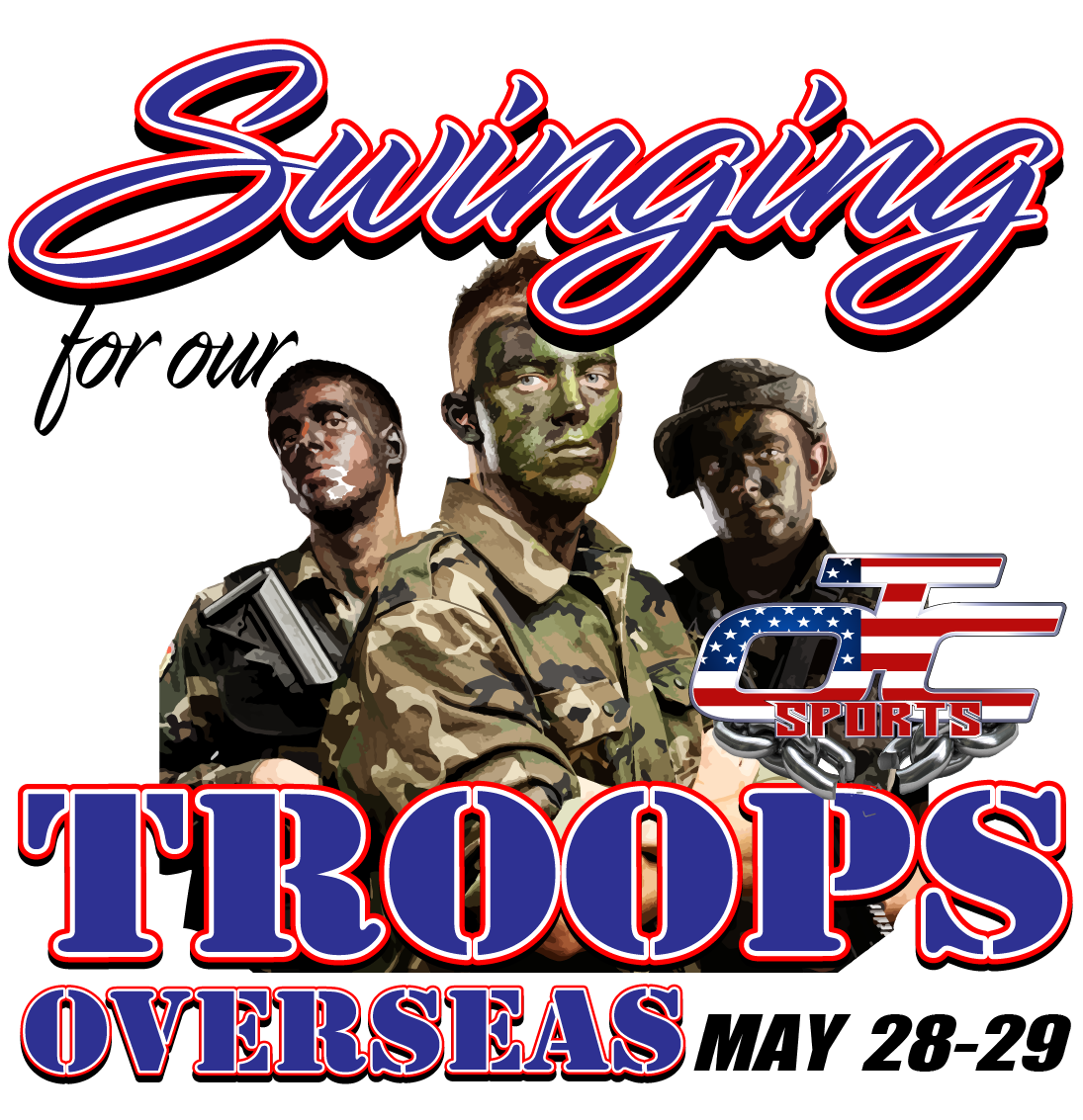 Swinging For Our Troops Overseas! Logo